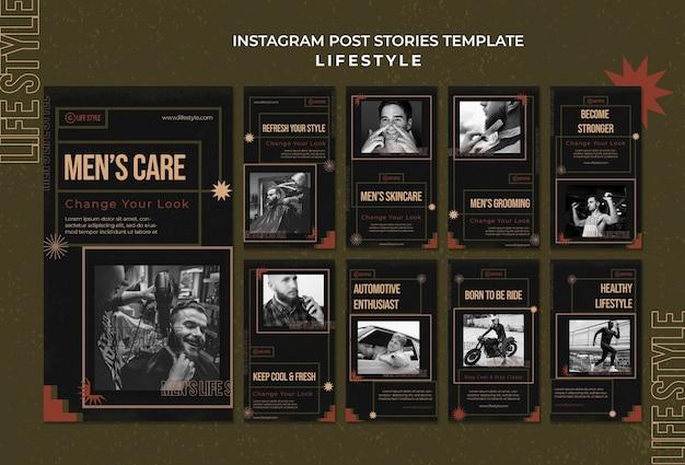 Histórias de redes sociais de cuidado de homens