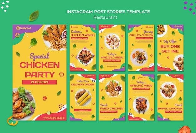 Histórias de redes sociais de restaurantes