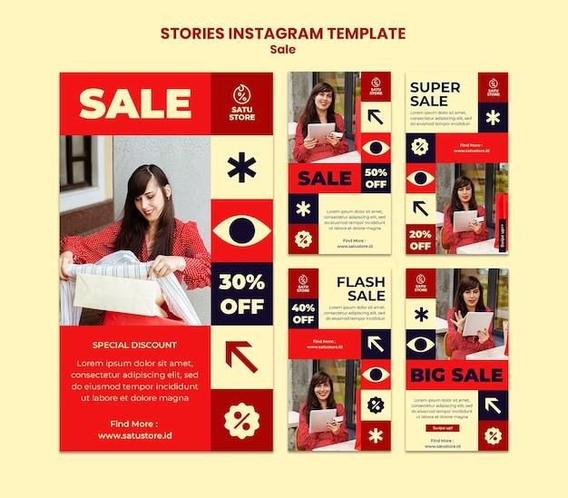 Histórias de redes sociais de vendas vermelhas