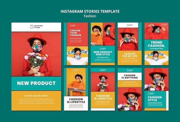 Histórias de tendências da moda no instagram
