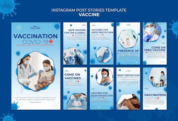 Histórias de vacinas no instagram Psd Premium