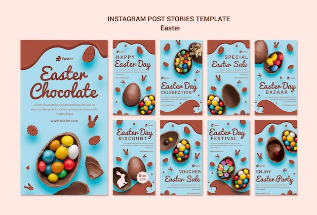 Histórias de venda de páscoa no instagram