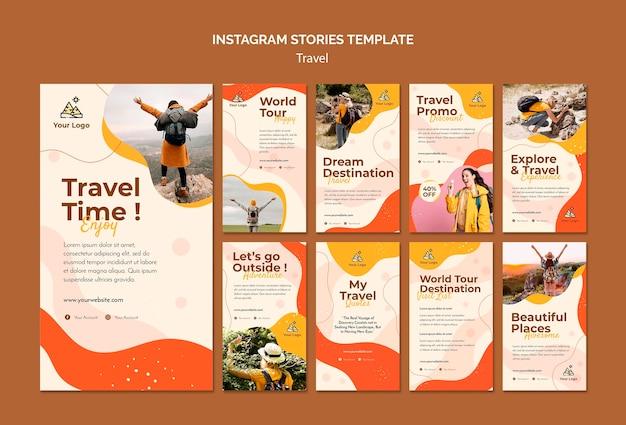 Histórias de viagens no instagram