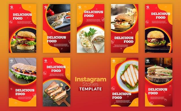 Histórias deliciosas de comida no instagram