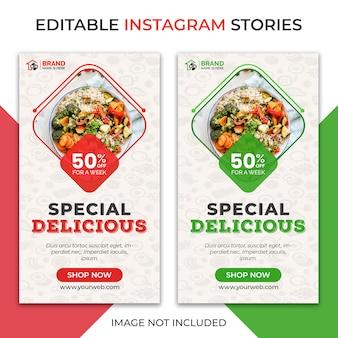 Histórias deliciosas do instagram de alimentos