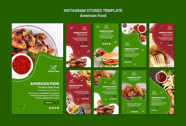 Histórias do instagram american food