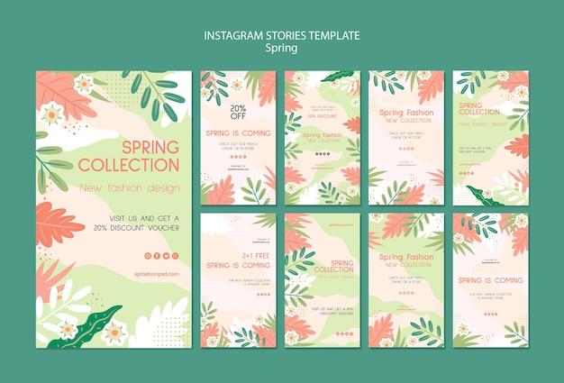 Histórias do instagram coleção primavera