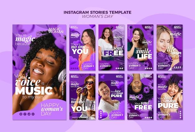 Histórias do instagram com o evento do dia da mulher