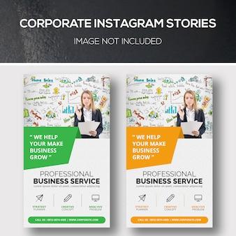 Histórias do instagram corporativo