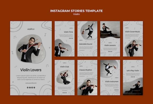 Histórias do instagram de amantes da música violino