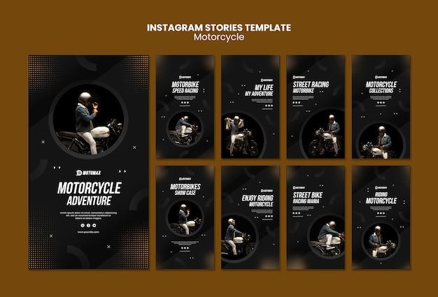 Histórias do instagram de aventura de motocicleta
