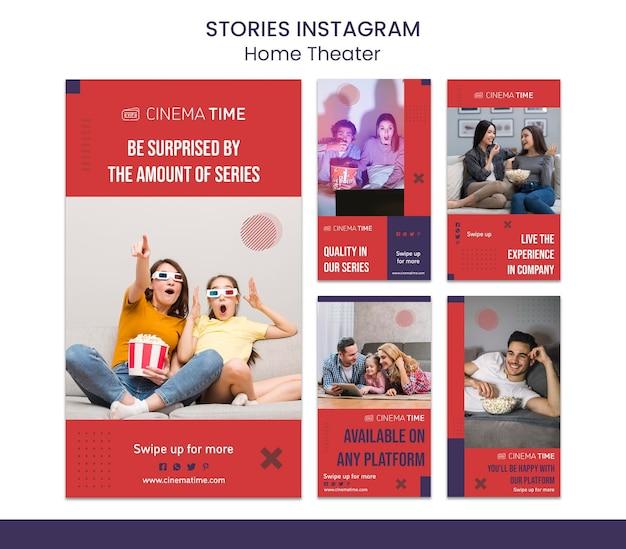 Histórias do instagram de cinema em casa