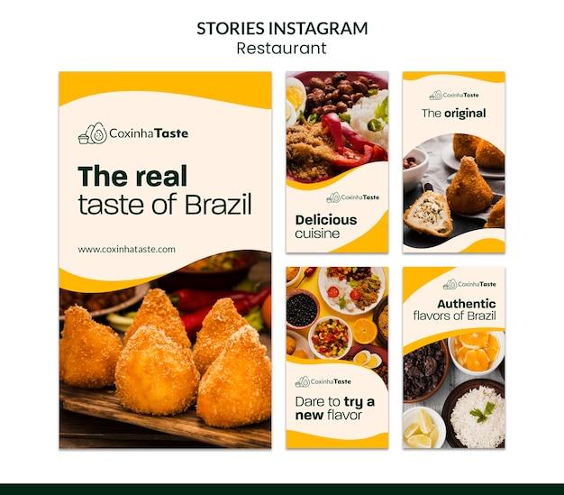 Histórias do instagram de comida brasileira