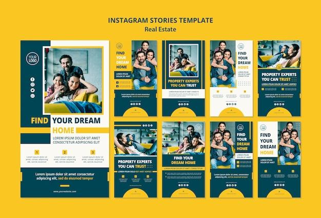 Histórias do instagram de conceito imobiliário