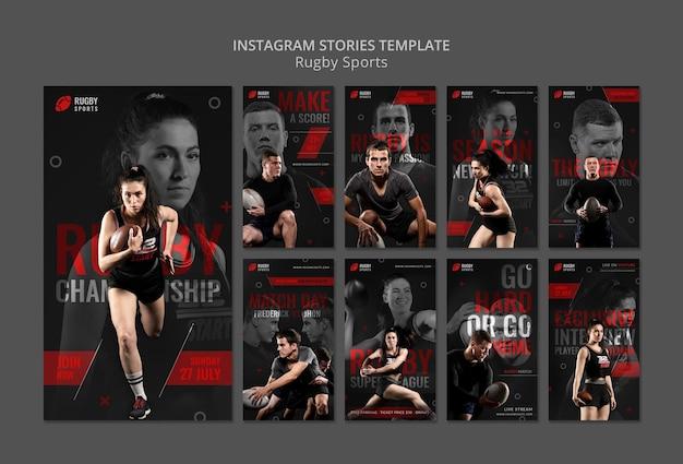 Histórias do instagram de esportes de rúgbi