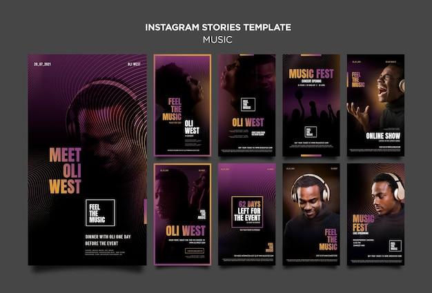 Histórias do instagram de festivais de música