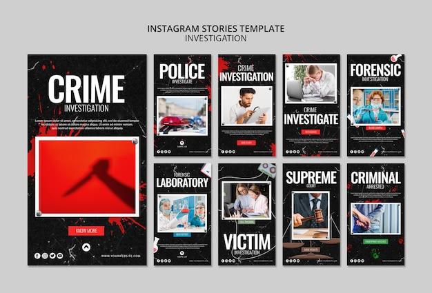 Histórias do instagram de investigação