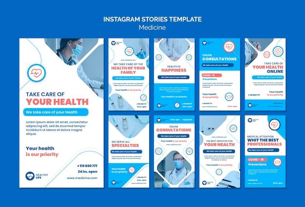 Histórias do instagram de prevenção covid19 de medicina