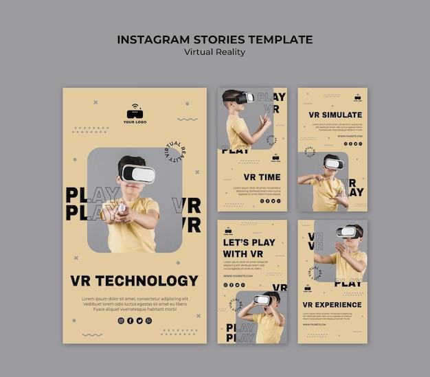 Histórias do instagram de realidade virtual