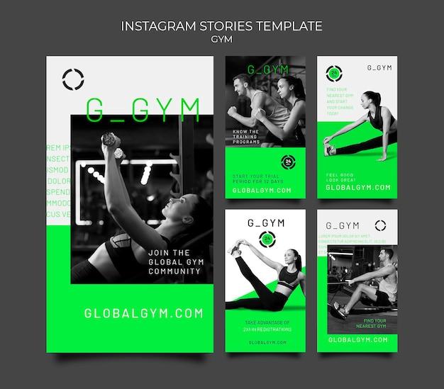 Histórias do instagram de treino de ginásio