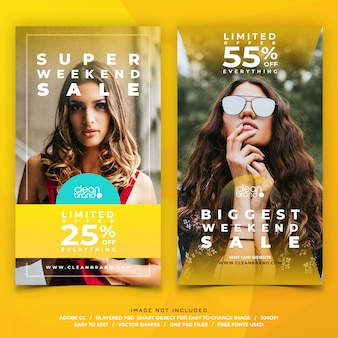 Histórias do instagram de venda de moda