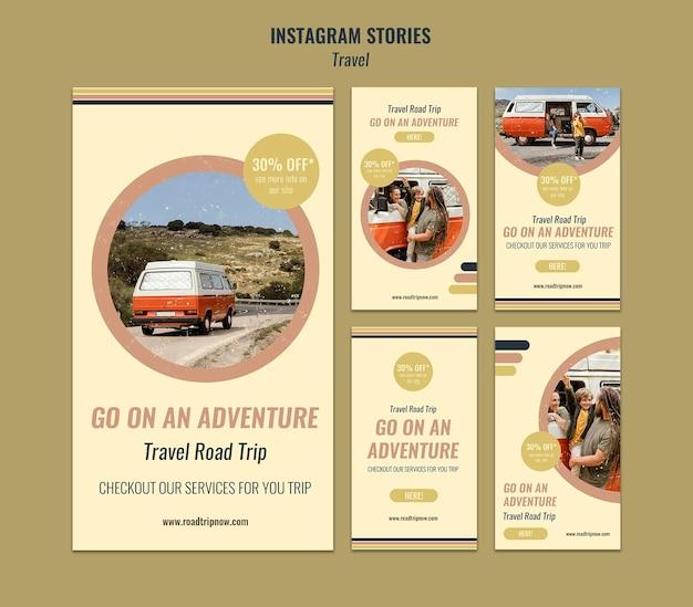 Histórias do instagram de viagens rodoviárias