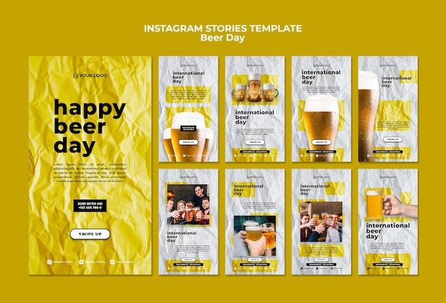 Histórias do instagram dia da cerveja