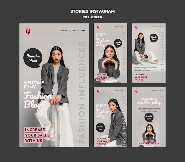Histórias do instagram do blog de moda