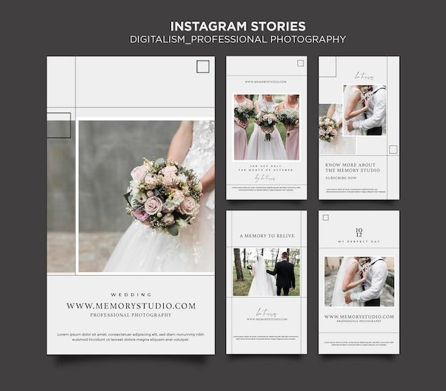 Histórias do instagram do conceito de digitalismo