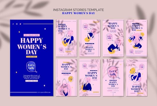 Histórias do instagram do dia da mulher feliz