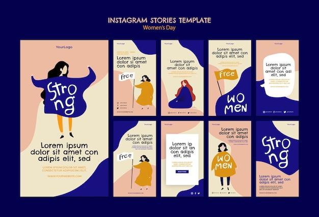 Histórias do instagram do dia das mulheres