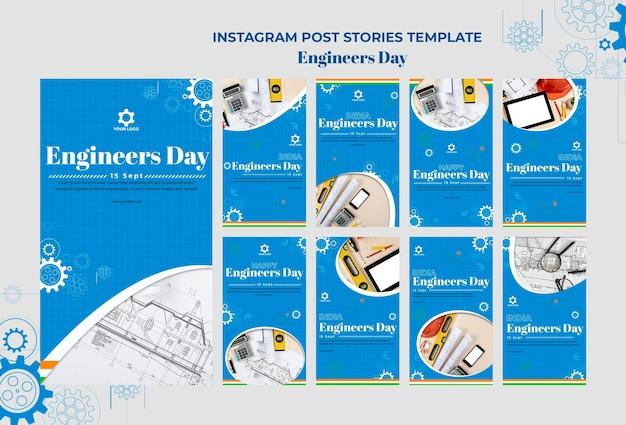 Histórias do instagram do dia dos engenheiros