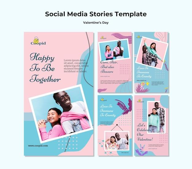 Histórias do instagram do dia dos namorados com foto