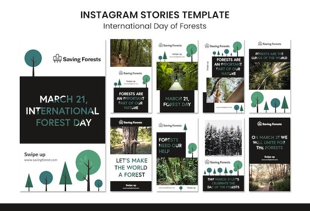 Histórias do instagram do dia internacional das florestas