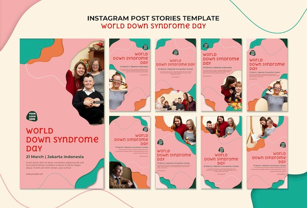 Histórias do instagram do dia mundial da síndrome de down