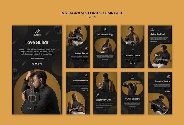 Histórias do instagram do guitarrista