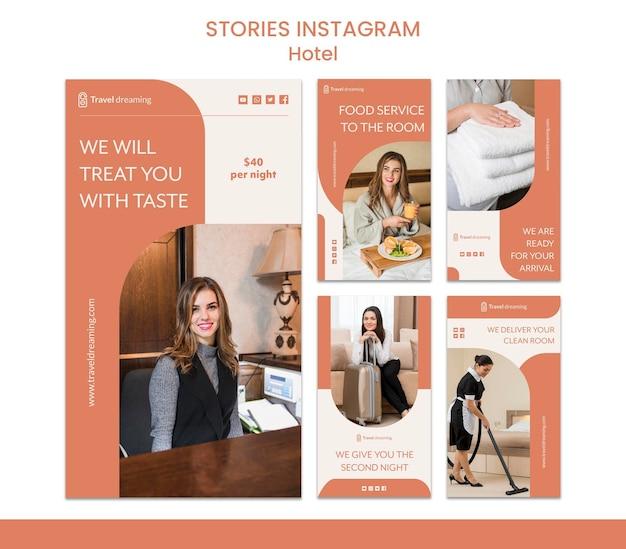 Histórias do instagram do hotel