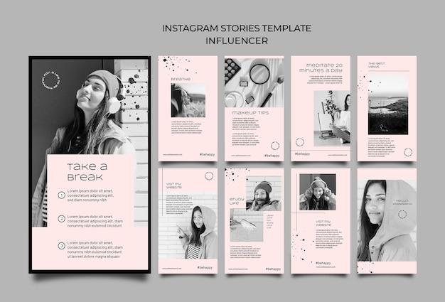 Histórias do instagram do influenciador