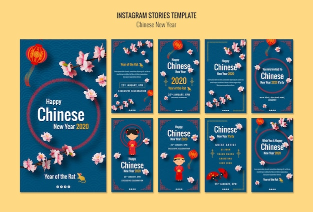 Histórias do instagram para o ano novo chinês