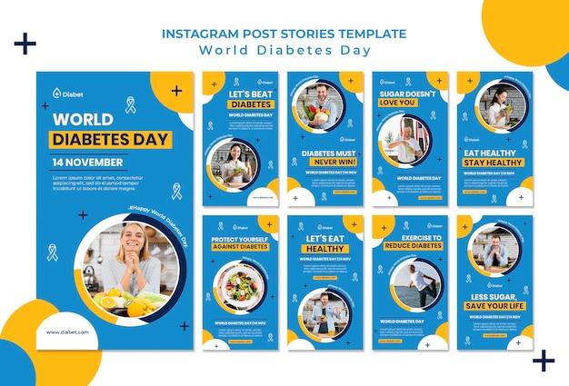 Histórias do instagram para o dia mundial da diabetes