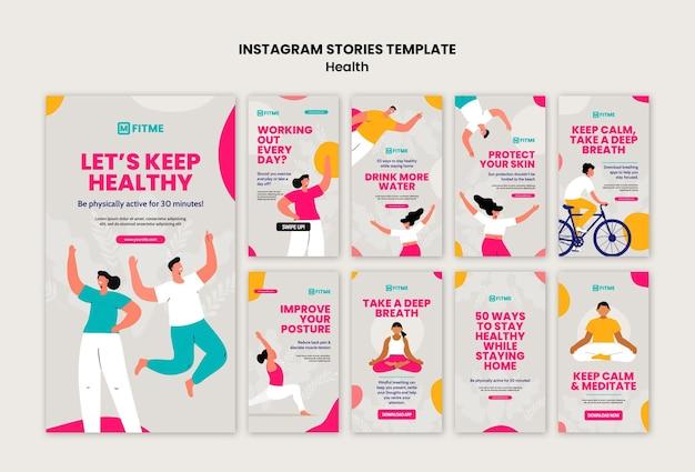 Histórias do instagram sobre cuidados de saúde