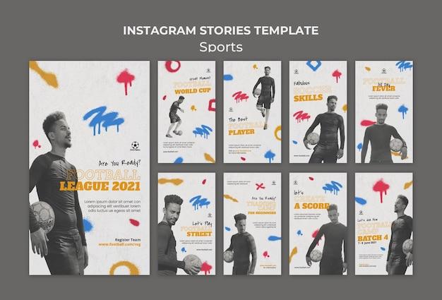 Histórias do instagram sobre esportes de futebol