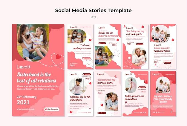 Histórias familiares nas redes sociais