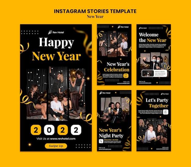 Histórias festivas de véspera de ano novo definidas