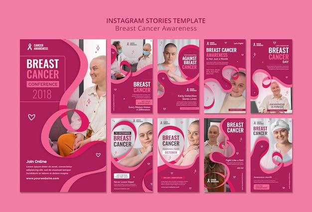 Histórias ig de câncer de mama com fita rosa