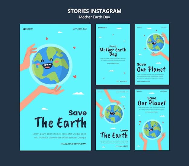 Histórias ilustradas do dia da mãe terra