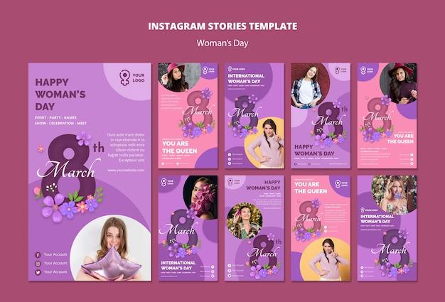 Histórias internacionais do dia da mulher no instagram
