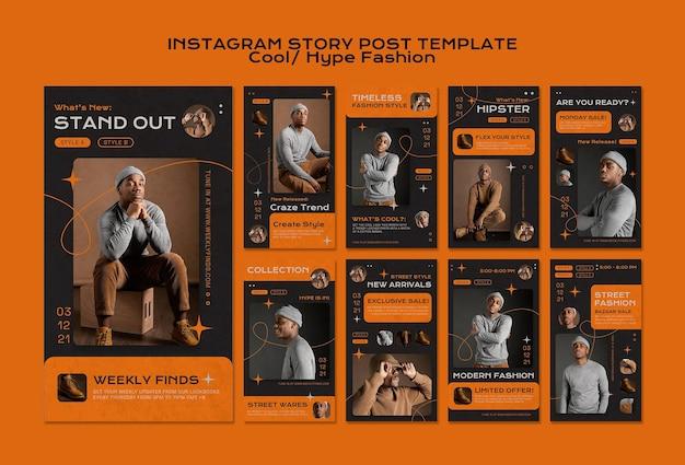 Histórias legais da moda no instagram