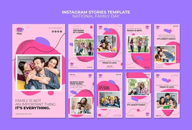 Histórias nacionais do instagram do dia da família