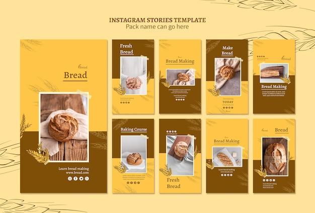 Histórias para fazer pão no instagram